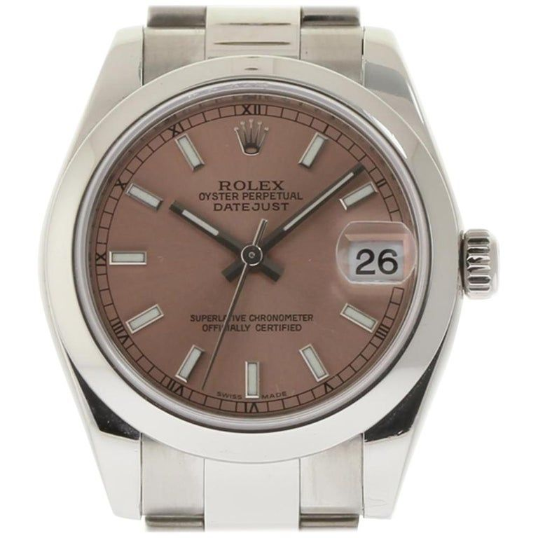 Rolex Datejust 178240 Stainless Steel Pink 2006 Box/Paper/Warranty #I1093 #stainlesssteelrolex