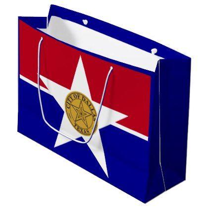Flag Of Dallas Texas Large Gift Bag Craft Supplies Diy Custom
