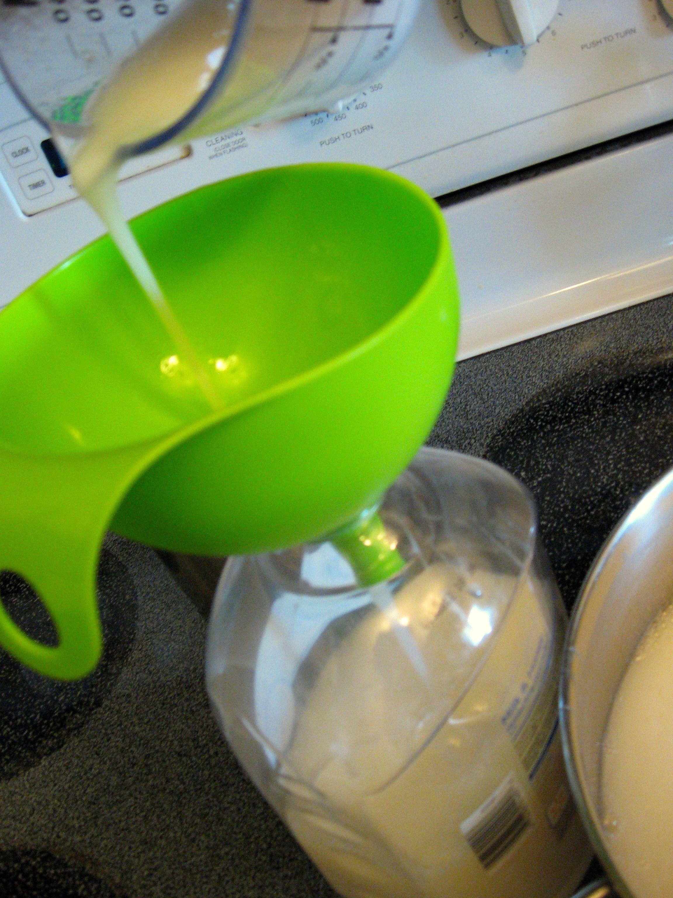 Homemade liquid hand soap using a bar of soap glycerin