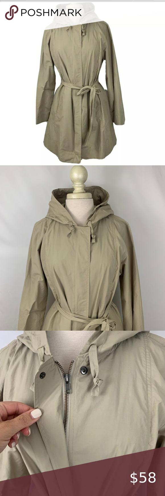 Eileen Fisher Belted Khaki Tan Trench Coat Jacket Trench Coat Jackets Tan Trench Coat Trench Coat [ 1740 x 580 Pixel ]