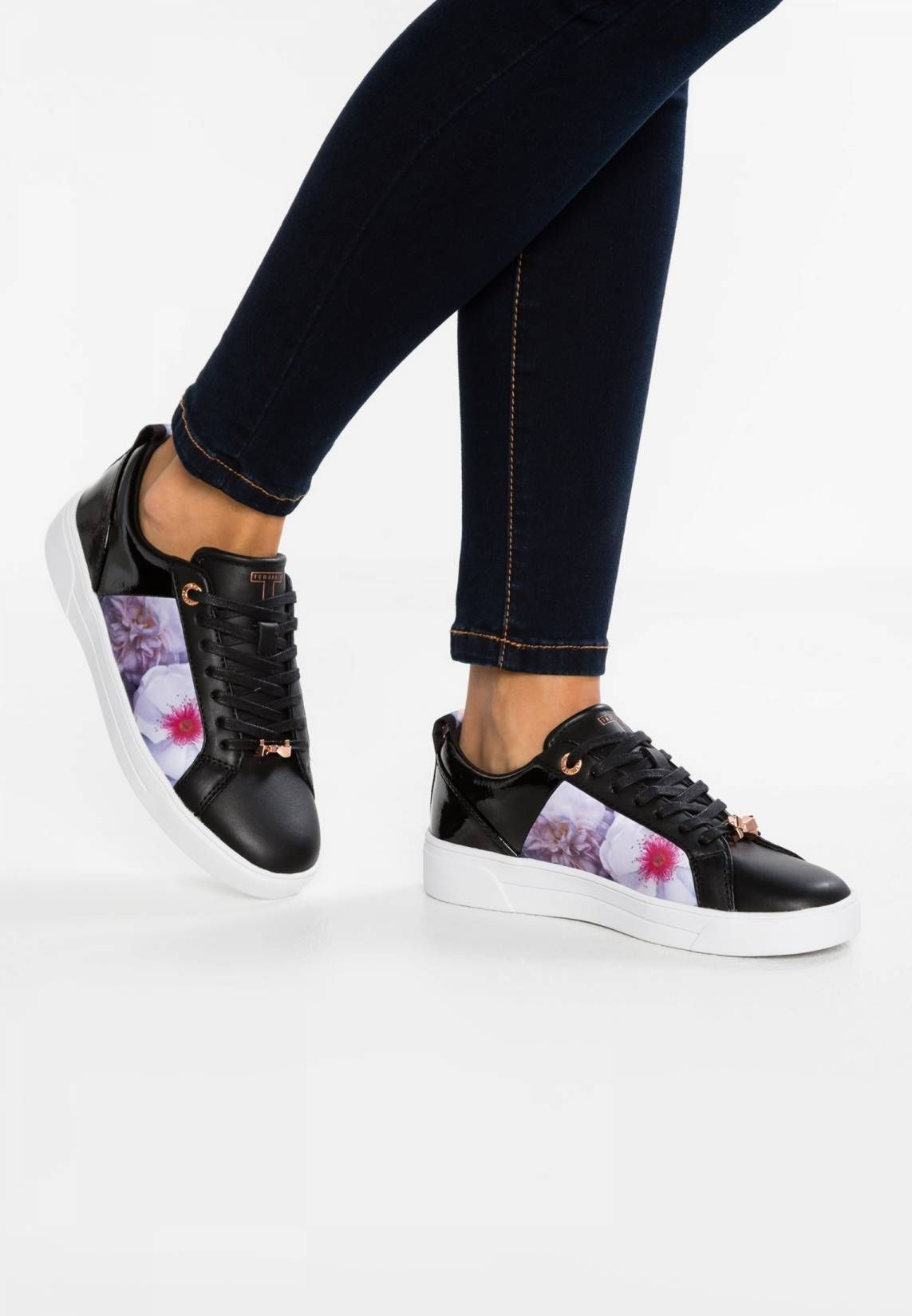 e28b78eeba7213 Ted Baker. FUSHAR - Trainers - black. Pattern:floral. Care ...