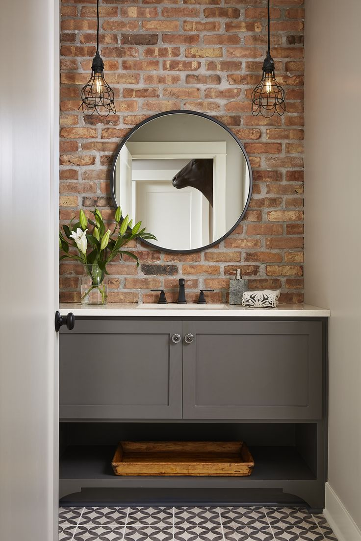 Projects Sneak Peek Design Brick Accent Walls Brick Bathroom Home