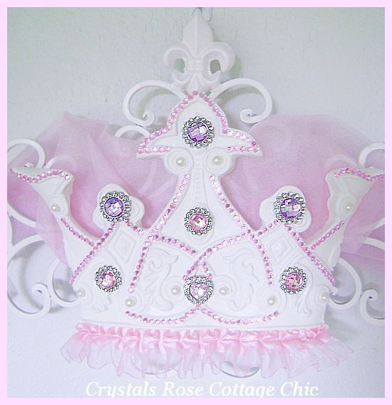 Pink and Lilac Rhinestone Princess Bed Crown Canopy Fleur de Lis  sc 1 st  Pinterest & Pink and Lilac Rhinestone Princess Bed Crown Canopy Fleur de Lis ...