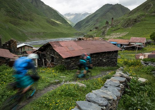 Fear and lightning on the untrammeled trails of the Georgian high Caucasus.