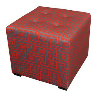 Sole Designs Red 4-button Tufted Ottoman | Overstock™ Shopping - Great Deals on Sole Designs Ottomans
