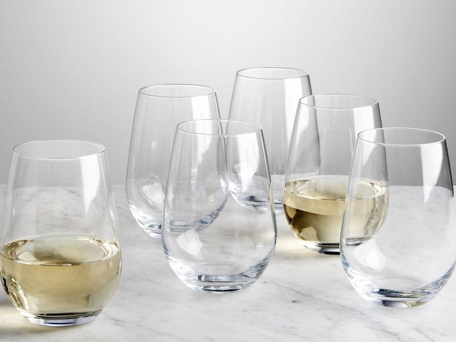 Chalone Stemless Wine Glass Set Of 6 Arhaus Furniture Wine
