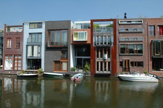 Amsterdam housing, Borneo Island #housing #canalarchitecture #urban