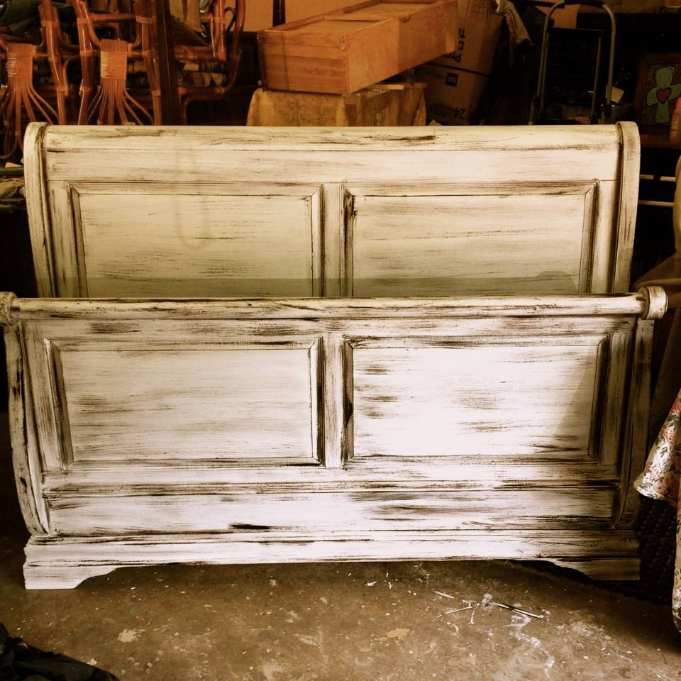sleigh bed 200.00 painted with general finishes antique