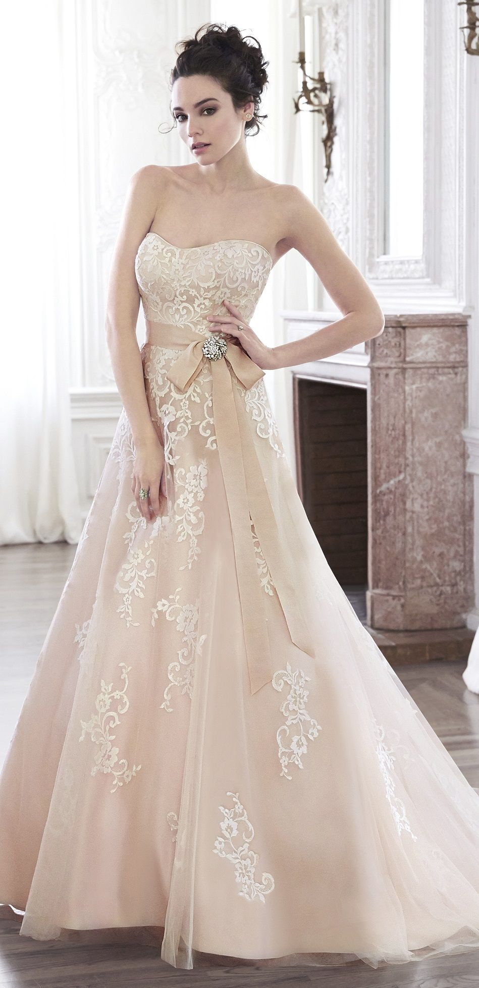 Pretty Peach Wedding Dress From Maggie Sottero: Pritty Dresses Peach Wedding At Reisefeber.org