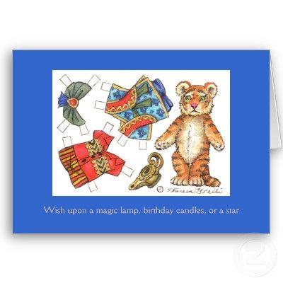 Tiger Birthday Card Pinterest Tigers Birthdays And Dolls