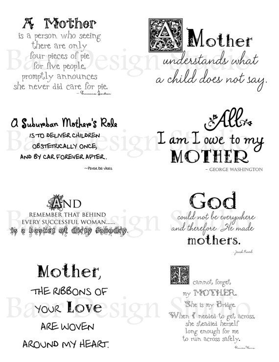 Quotes Abouts Mothers For Mother S Day Cards By Baerdesignstudio Sentiments