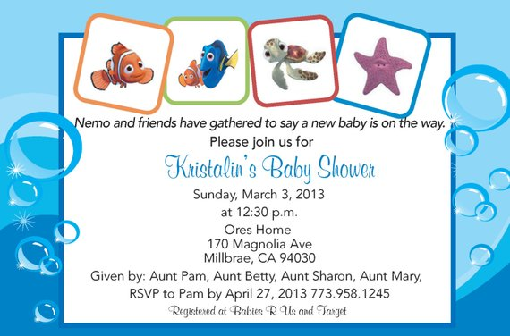Finding Nemo Baby Shower Invitation Products In 2018 Pinterest
