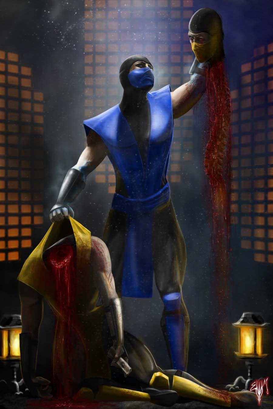 Mortal Kombat Legacy Sub Zero Costume MK Legacy Scorpion Sub...