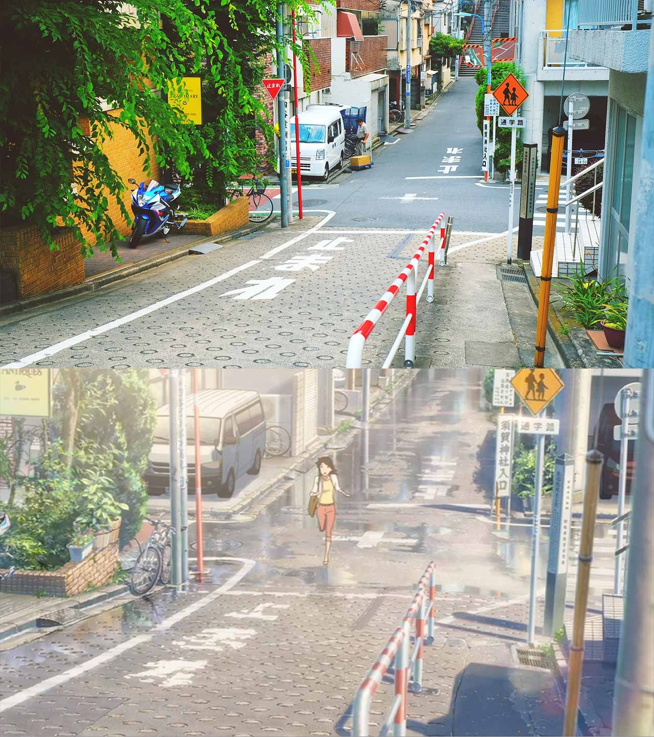 A Pilgrimage To The Real Life Locations Of Your Name Anime Vs