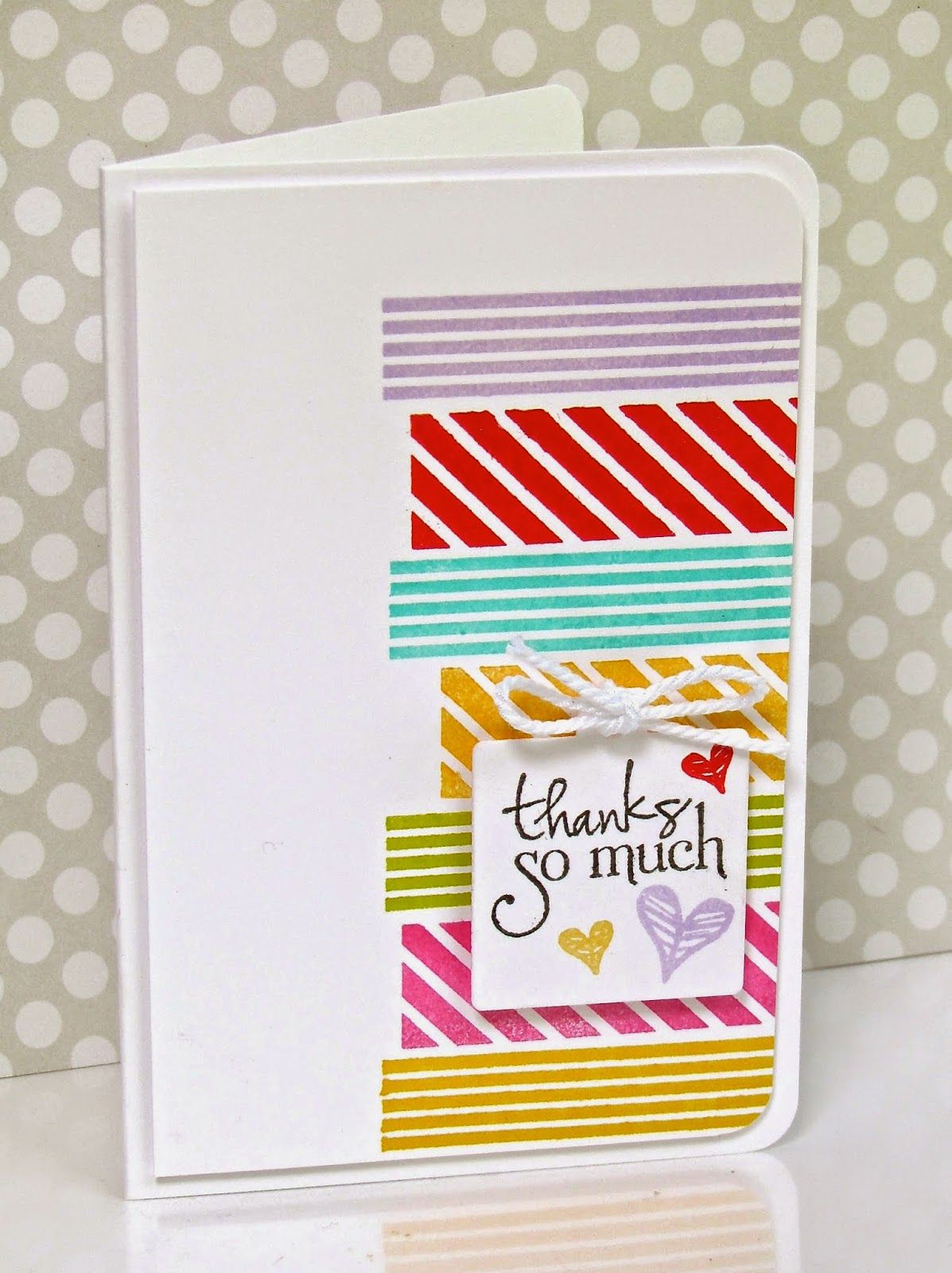 Simple handmade card using washi tape. | WASHI TAPE ...