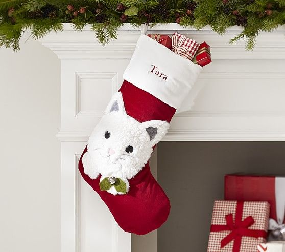 Pottery Barn Plaid Velvet Stocking Kids: Luxe Velvet Stocking Collection