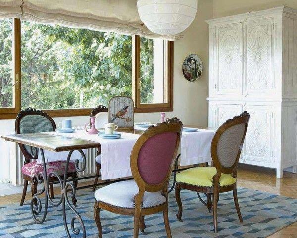 comedor-vintage-con-sillas-victorianas | My Style | Pinterest ...