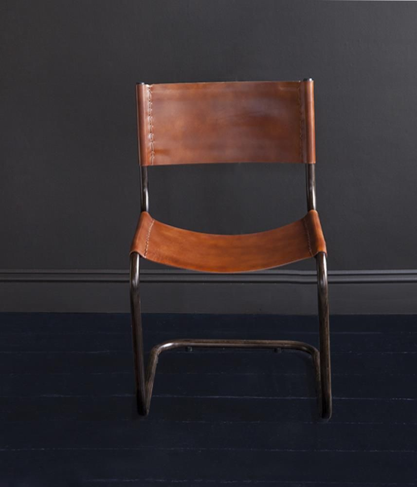 Capri sling back leather dining chair in 2020 dining