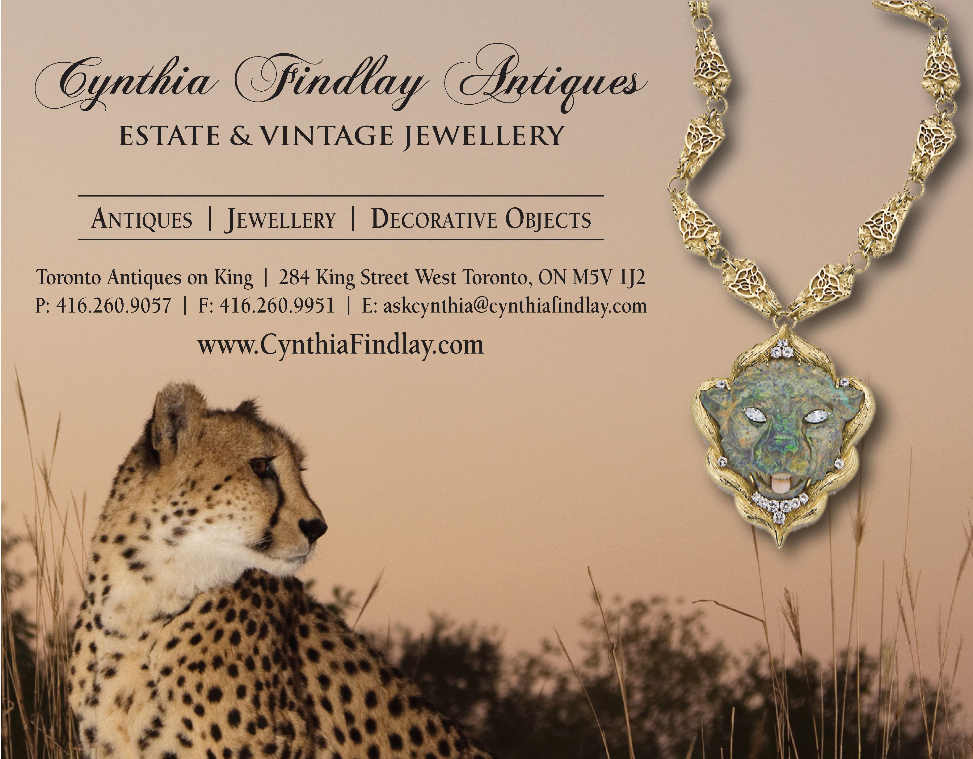 Cynthia Findlay Antiques Advertisement Design GraphicDesign