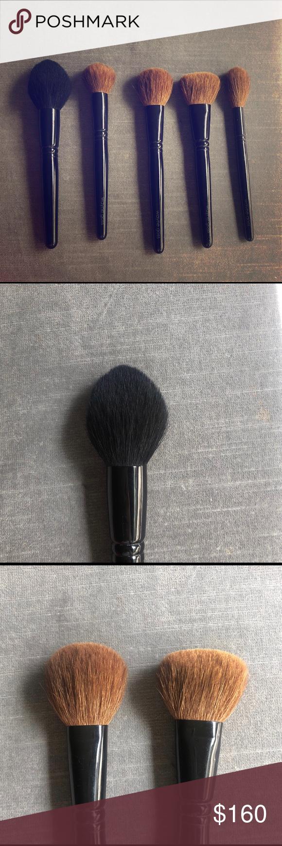 Wayne Goss Face brushes Set Of 5 Includes brushes 11,12