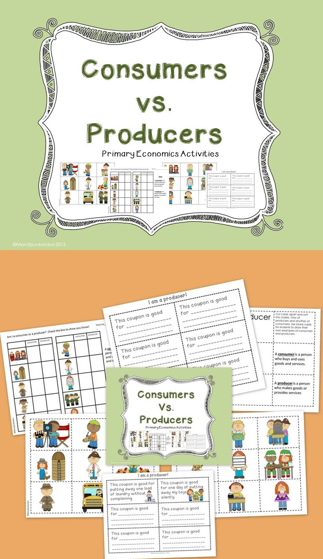 Consumers And Producers Personal Finance And Economics Pinterest