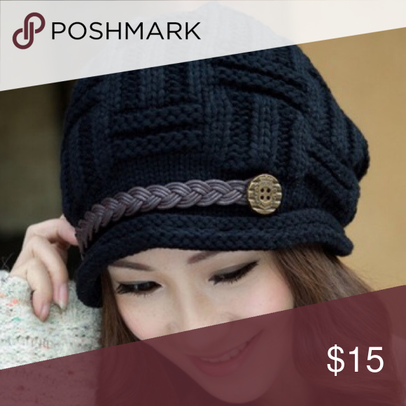 Black Knitted Hat Boutique | Pinterest