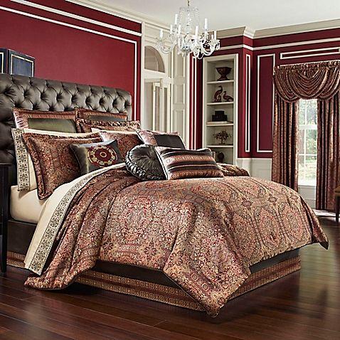 J Queen New York Trade Bridgeport Comforter Set In Red Comforter Sets Luxury Comforter Sets Bed Linens Luxury