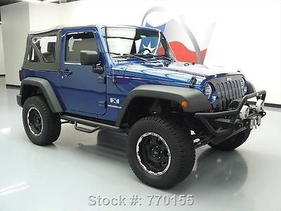 2009 Jeep Wrangler X Convertible 4x4 Lifted 6 Speed 11k 770155