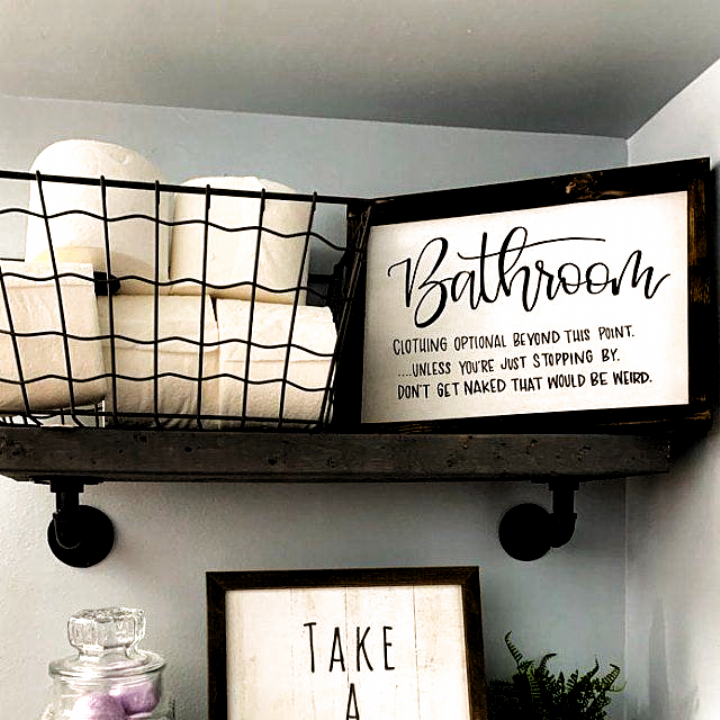 Photo of Wood Sign Home Decor | Wood Sign | Farmhouse signs | Bathroom sign | Bathroom Hu…