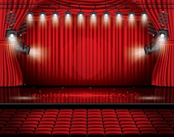 Fond de vecteur du rideau de scène et rouge 10 - Fichier EPS libre ...