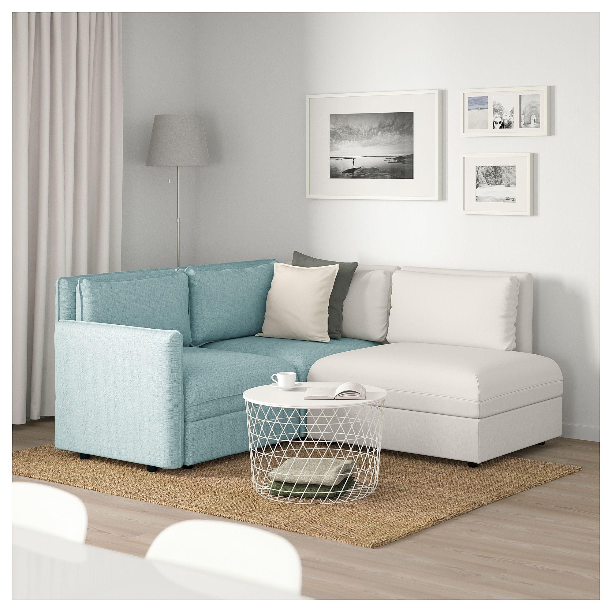 Vallentuna Sectional 3 Seat With Storage Hillared Murum Light