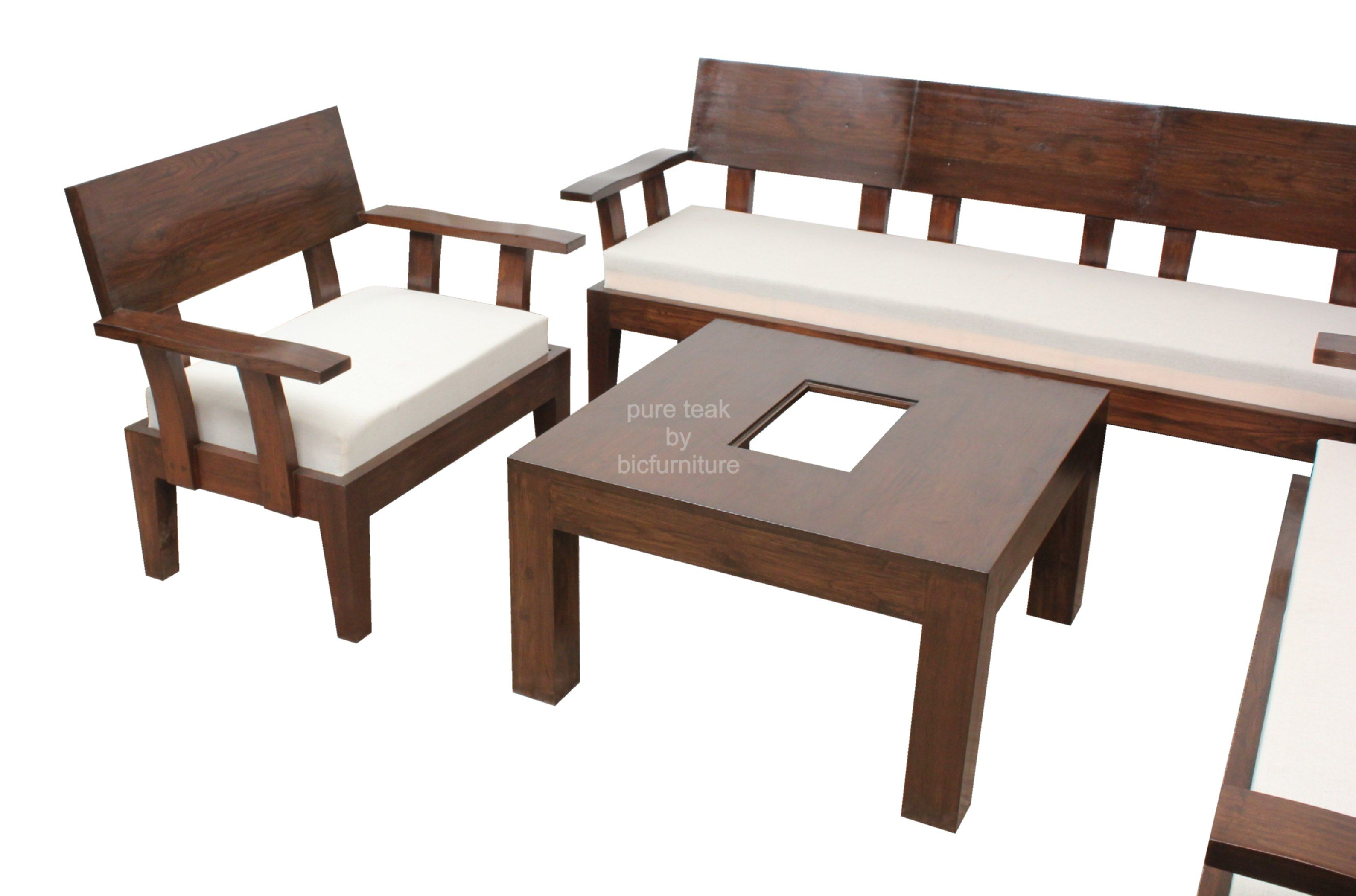 Teakwood Sofa Set With Centre Table Ws 13 In 2020 Furniture Sofa Set Sofa Set Designs Latest Wooden Sofa Designs