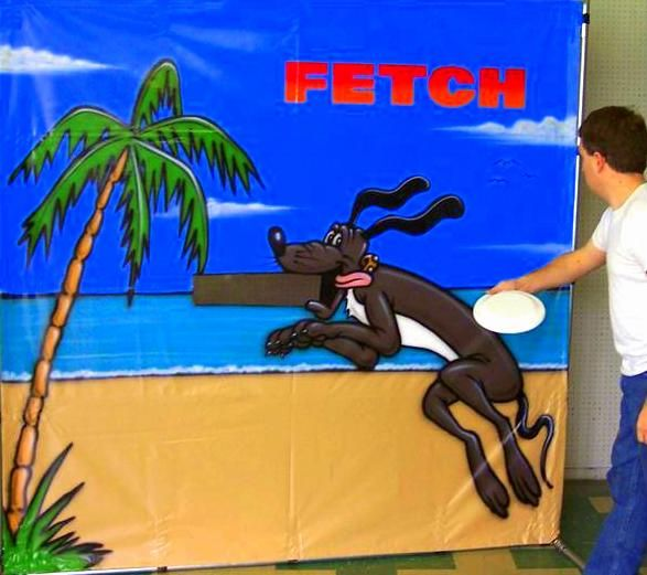 Kids, teens, and adults alike LOVE to play our Fetch flying disc game. http://www.twisterdisplay.com/Fetch/