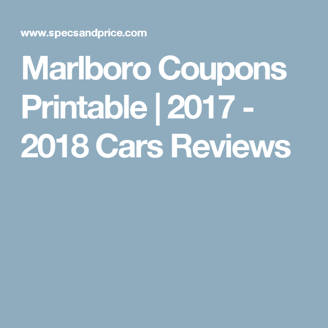 It's just an image of Enterprising Printable Coupons for Marlboro Cigarettes