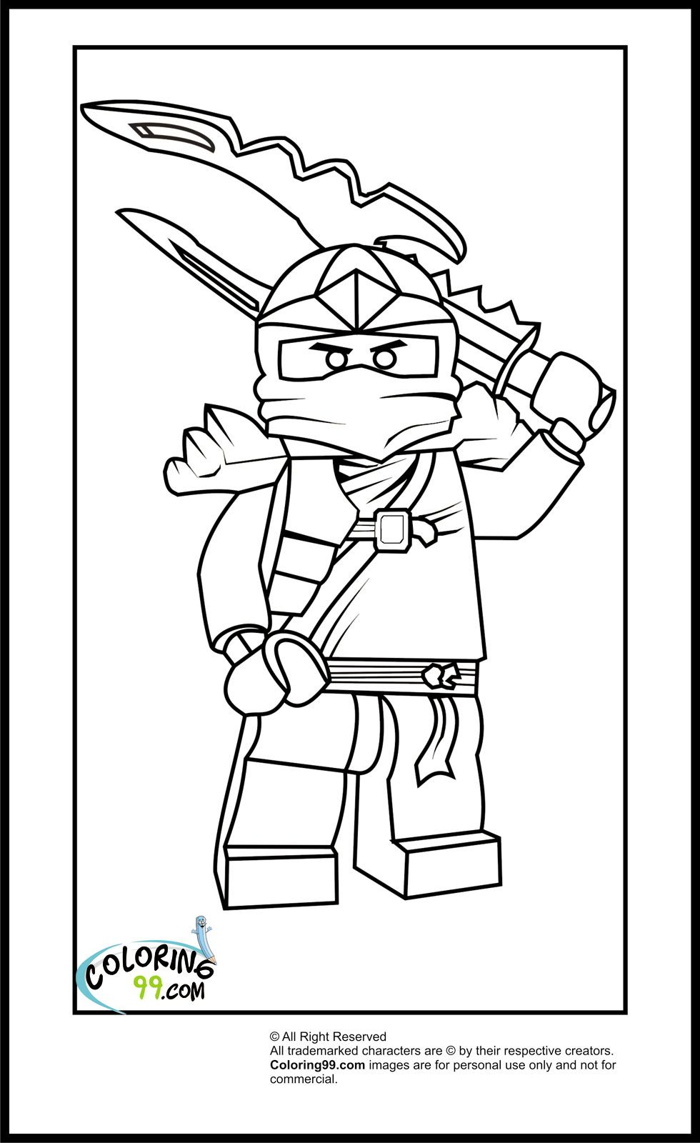 Cole ninjago coloring games online for kids - Lego Ninjago Coloring Pages