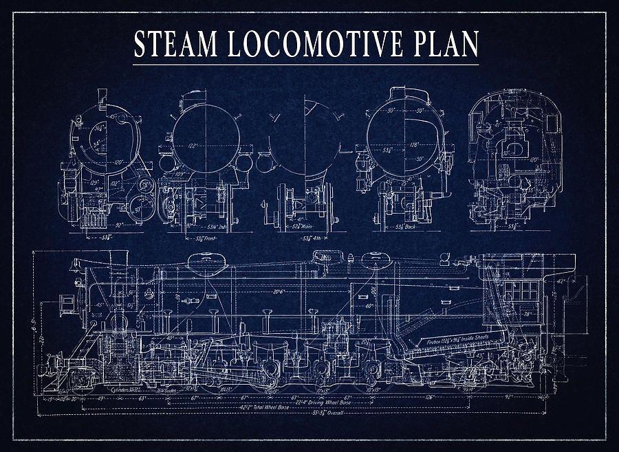 Heavy steam locomotive blueprint daniel hagermang 900658 heavy steam locomotive blueprint daniel hagermang 900 malvernweather Images