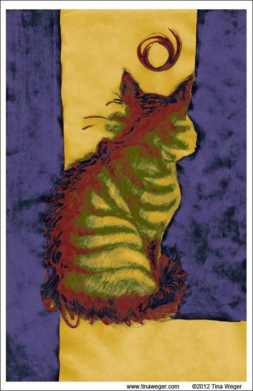 """""""Peppin"""". This started as a rather large, india ink piece over 30 years ago. I digitized it and added the color in Photoshop. Voilà!  18 X 24"""