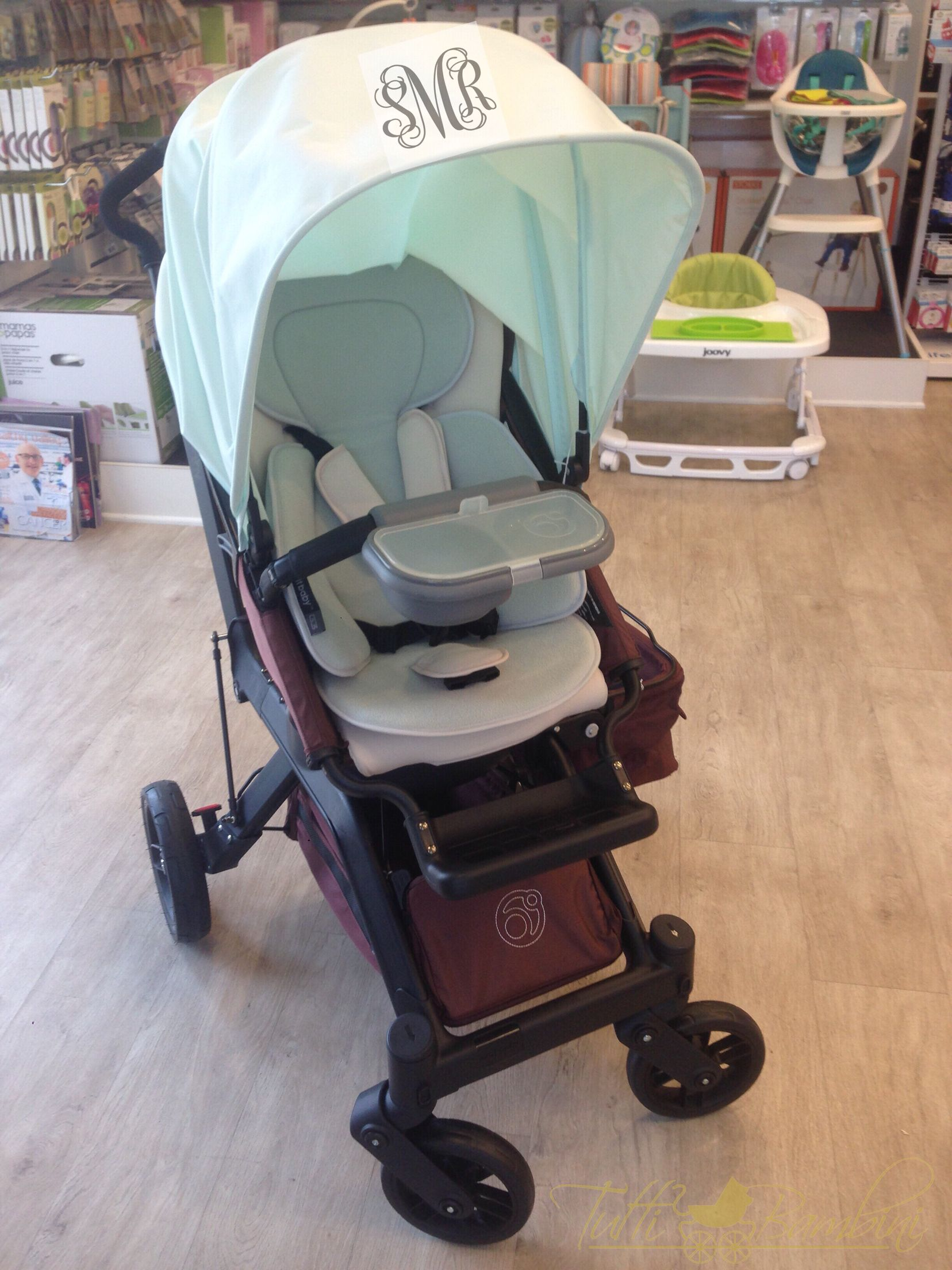 We are a absolutely in love with this monogrammed stroller