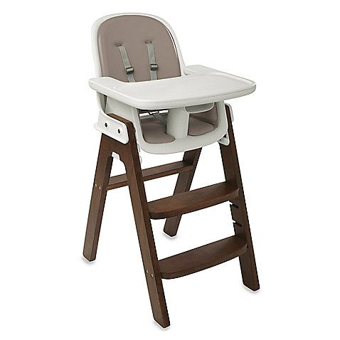 Oxo Tot 174 Sprout High Chair And Accessories Taupe Walnut