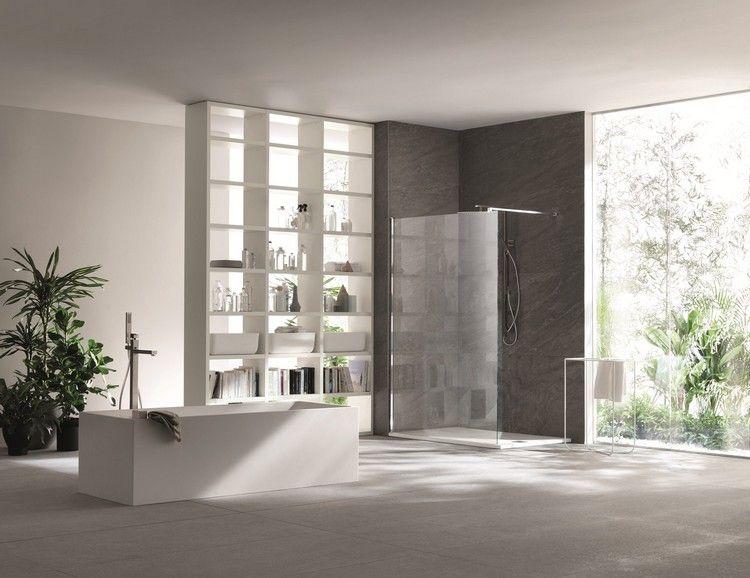 Stauraum Badezimmer ~ Modernes bad raumteiler stauraum freistehende badewanne bathroom
