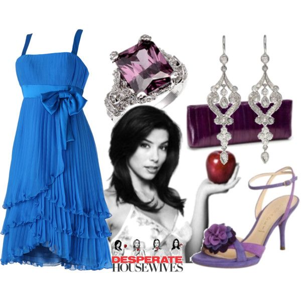 Blue layered pleated dress