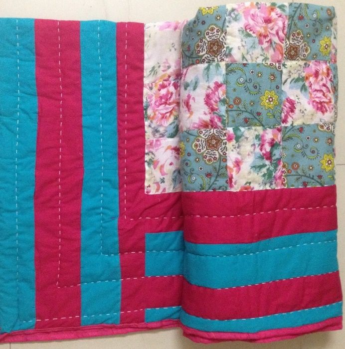online-shopping-Bright-and-colorful-floral-handmade-patchwork ... : fabric for quilting online - Adamdwight.com