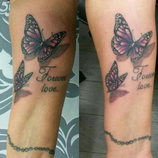 In Loving Memory 3d Butterflies Mom Tattoos Memorial Tattoos Butterfly Tattoo