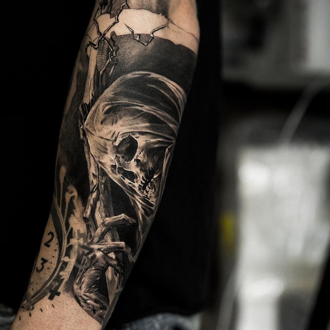 """Art TattooLaser (niki23gtr) en Instagram """" grim reaper"""