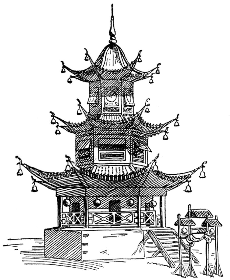 Afficher limage dorigine pagode japonaise dessin esquisse idée dessin