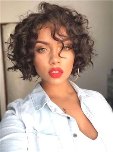 Messy Chin Length Curly Women Capless Wigs Curlyhairstyles Hair Styles Short Hair Styles Curly Hair Styles Naturally