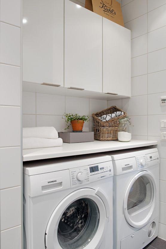 Tico loft sueco con lavander a en el cuarto de ba o for Bano con lavanderia