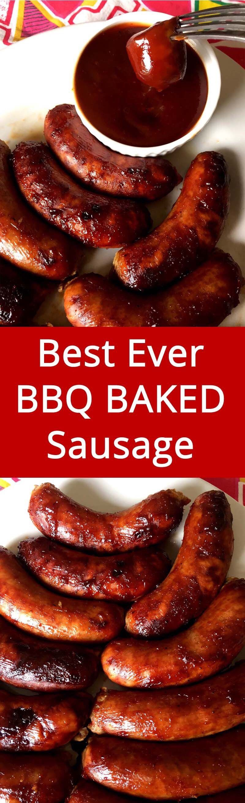Baked bbq barbecued sausages recipe bbq sausage recipe