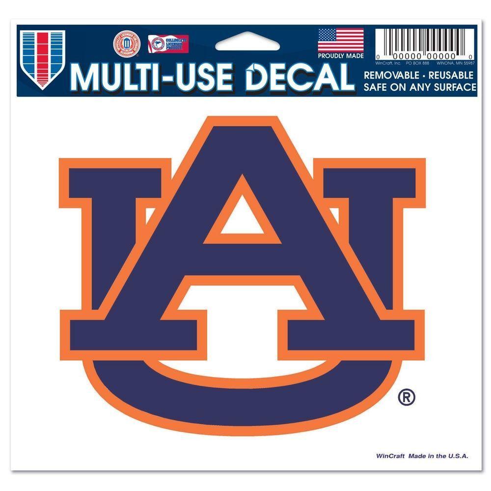 "Auburn University Multi-Use Colored Decal 5"" x 6"""