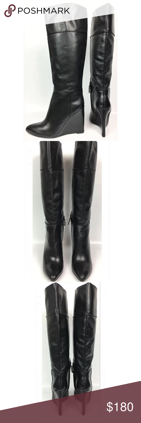 4812b497d67 Tory Burch Linnett Wedge Knee High Boots Great condition. Boots have  scuffs